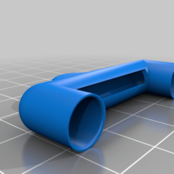 Chiron_Fanduct_Larger_Vents_End_Cap.png Download free STL file Chiron Fan Duct Shorter for better print clearance • 3D printer template, JeenyusPete