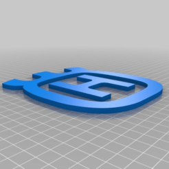 Download free 3D printing templates Husqvarna Logo, Multi-Part / Multi-colour, JeenyusPete