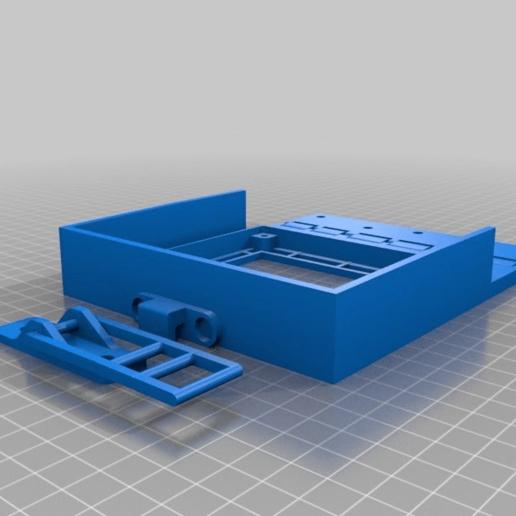 353ffbdaecdb474a507c4cfa19867d95.png Download free STL file Hinged, Hooked, CR 10(S) LCD screen mount. • 3D printable model, JeenyusPete
