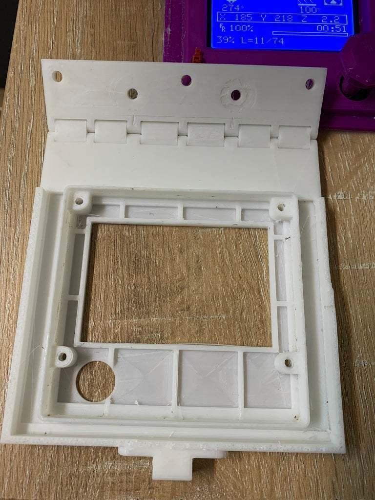 BD0A71E6-2FA6-405D-8FCC-B0015F7D3855.jpeg Download free STL file Hinged, Hooked, CR 10(S) LCD screen mount. • 3D printable model, JeenyusPete