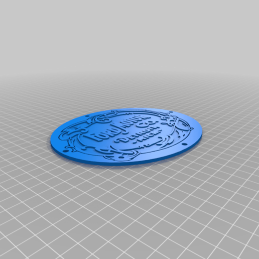Download free 3D printing models Dual Colour/material Classic Ford Logo multi part, JeenyusPete