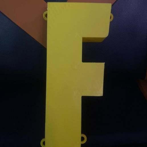 Télécharger fichier impression 3D gratuit Couverture légère de Fortnite F, JeenyusPete