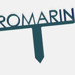 romarin.png Télécharger fichier STL PANNEAU ETIQUETTE POUR JARDIN POTAGER ET AROMATIQUE • Modèle à imprimer en 3D, doudou7