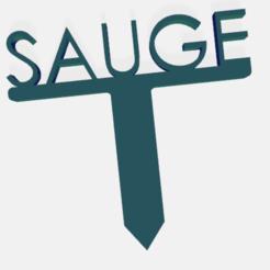 sauge.png Télécharger fichier STL PANNEAU ETIQUETTE POUR JARDIN POTAGER ET AROMATIQUE • Modèle à imprimer en 3D, doudou7