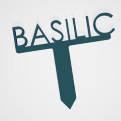 Basilic.PNG Télécharger fichier STL PANNEAU ETIQUETTE POUR JARDIN POTAGER ET AROMATIQUE • Modèle à imprimer en 3D, doudou7