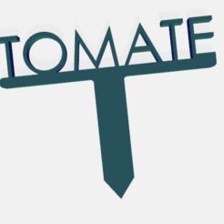 tomate.png Télécharger fichier STL PANNEAU ETIQUETTE POUR JARDIN POTAGER ET AROMATIQUE • Modèle à imprimer en 3D, doudou7