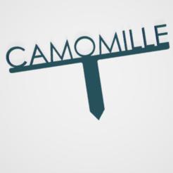 Camomille.PNG Télécharger fichier STL PANNEAU ETIQUETTE POUR JARDIN POTAGER ET AROMATIQUE • Modèle à imprimer en 3D, doudou7