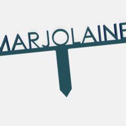 marjolaine.png Télécharger fichier STL PANNEAU ETIQUETTE POUR JARDIN POTAGER ET AROMATIQUE • Modèle à imprimer en 3D, doudou7
