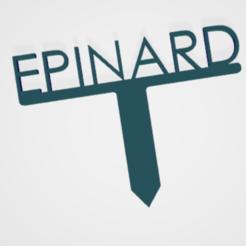 Epinard.PNG Télécharger fichier STL PANNEAU ETIQUETTE POUR JARDIN POTAGER ET AROMATIQUE • Modèle à imprimer en 3D, doudou7