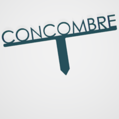 Concombre.PNG Télécharger fichier STL PANNEAU ETIQUETTE POUR JARDIN POTAGER ET AROMATIQUE • Modèle à imprimer en 3D, doudou7