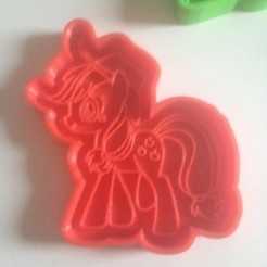 STL file applejack, My Little Pony, cookie, cutter, cutting edge, fmarianelag
