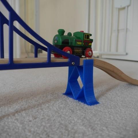 Objet 3D gratuit Support de pont ferroviaire en bois, arpruss