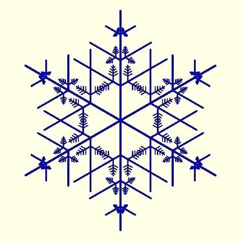 025a63c386ee854bc142bf3b37c0f638_display_large.jpg Download free STL file Random fractal snowflake in BlocksCAD • 3D printer model, arpruss