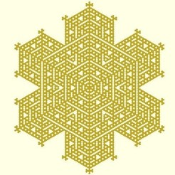 Free STL Cellular automaton snowflake generator in OpenSCAD, arpruss
