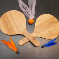 P1090219.JPG Download free STL file Paddles for use with Goodminton or Jazzminton birdies • 3D printing model, arpruss
