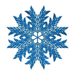 Free 3D model Leafy snowflake in BlocksCAD, arpruss