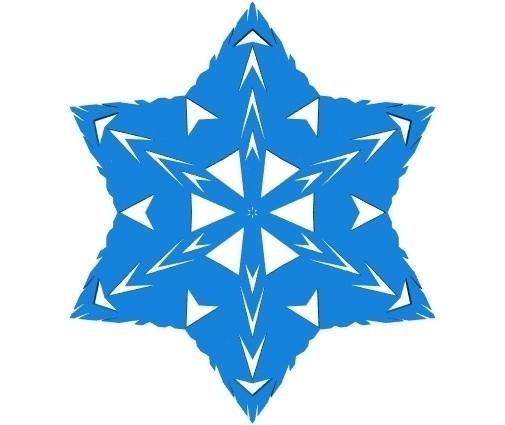 e1da26761755fabbe05664feabac8ea1_display_large.jpg Télécharger fichier STL gratuit Flocon de neige kirigami aléatoire dans BlocksCAD • Plan pour impression 3D, arpruss