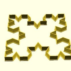 Free 3D printer model 4-sided Koch snowflake cookie cutter, arpruss