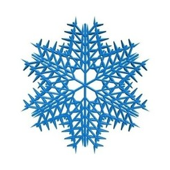 Download free 3D printing templates Randomized leafy snowflake, arpruss