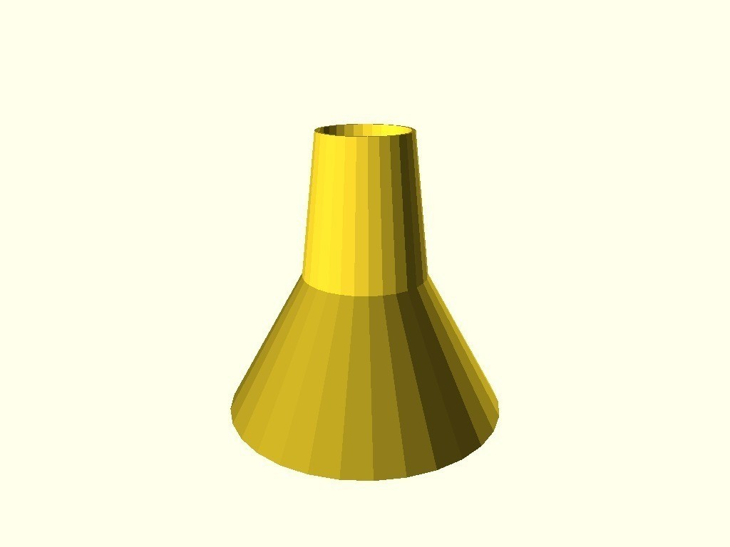 9752b18c10190279e170c71bf6d3467d_display_large.jpg Download free STL file Wide-mouth funnel, customizable • Design to 3D print, arpruss