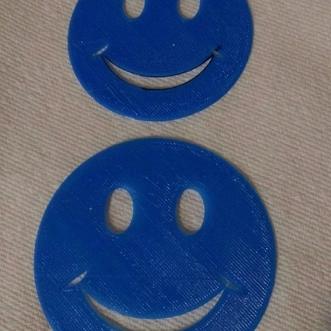 Free 3d printer files Smiley face stencil, arpruss