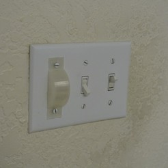 Download free 3D printing templates Light switch blocking cover, arpruss