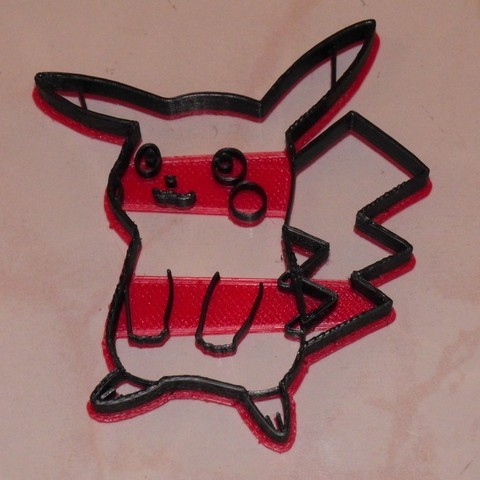 97c42f8f73eca8a1ba3c4ee2a32d2380_display_large.JPG Download free STL file Pikachu cookie cutter, via an Inkscape extension • 3D printing template, arpruss