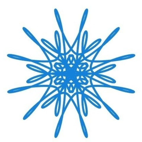 Download free STL files Parametric curvy snowflake, arpruss