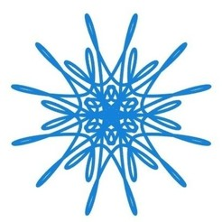 Modelos 3D para imprimir gratis Copo de nieve curvo paramétrico, arpruss