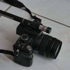 P1090325.JPG Télécharger fichier SCAD gratuit Monture laser verte pour caméra, télescope ou porte de bar • Modèle pour impression 3D, arpruss