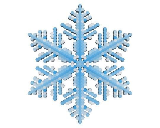 de48470b43c8eef25de628036ed325c6_display_large.jpg Download free STL file Snowflake growth simulation in BlocksCAD • 3D printing design, arpruss