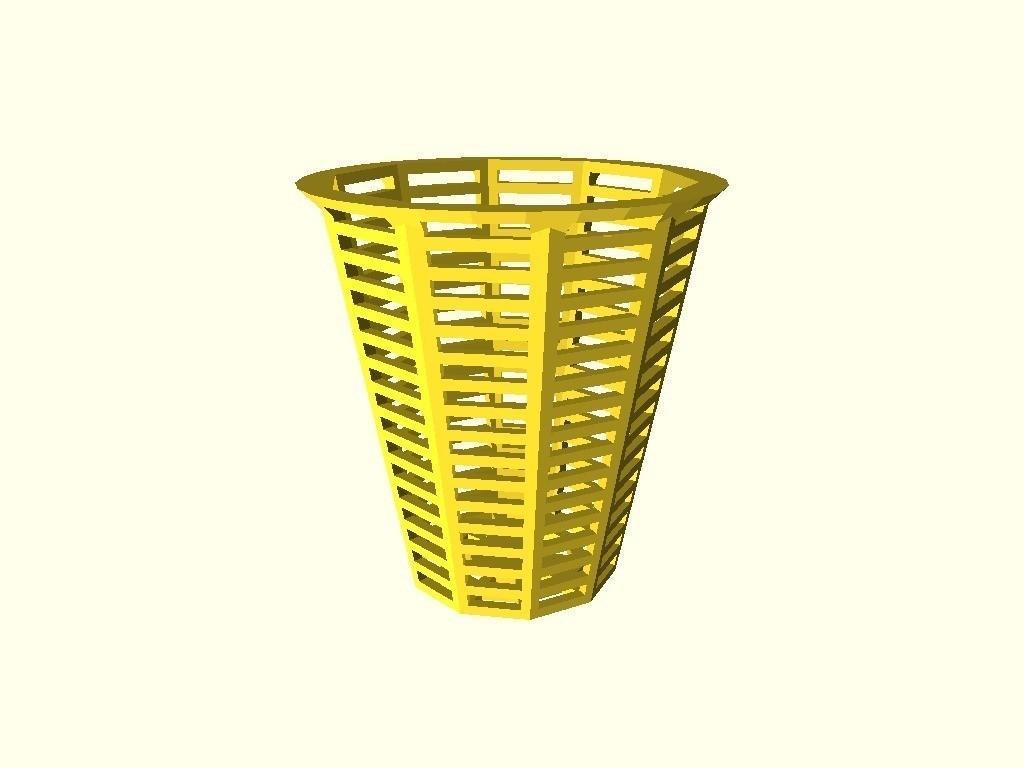 ba6bfdbdaf37eba153d8e67e184f2bc8_display_large.jpg Download free STL file Customizable shower drain hair catcher • Template to 3D print, arpruss