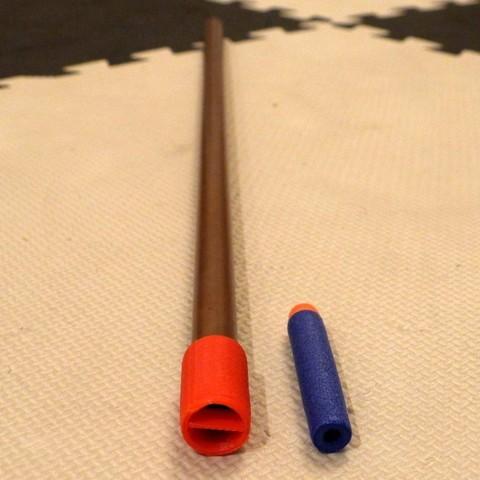 Free 3D print files Blowgun mouthpiece aspiration guard, arpruss
