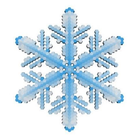 5a4a462f1751fd8c6f991d96056aa3ba_display_large.jpg Download free STL file Snowflake growth simulation in BlocksCAD • 3D printing design, arpruss