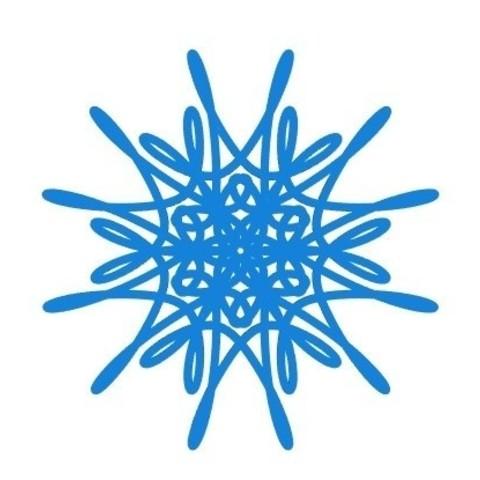 cf92eda18e163cfac0a9d3f1eca44272_display_large.jpg Télécharger fichier STL gratuit Flocon de neige courbe paramétrique • Plan pour imprimante 3D, arpruss