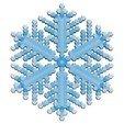 Télécharger fichier 3D gratuit Simulation de la croissance des flocons de neige dans BlocksCAD, arpruss