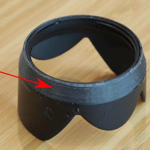 Download free SCAD file Lens hood repair ring for H-VS014140 • Template to 3D print, arpruss
