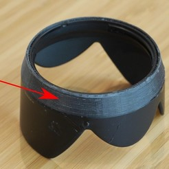 Download free 3D print files Lens hood repair ring for H-VS014140, arpruss