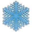 Download free 3D printer templates Snowflake growth simulation in BlocksCAD, arpruss
