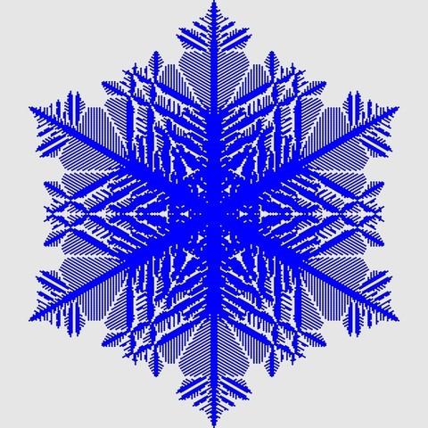 Free 3D model Big cellular snowflake, arpruss