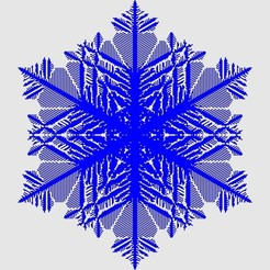 Télécharger fichier STL gratuit Grand flocon de neige cellulaire, arpruss