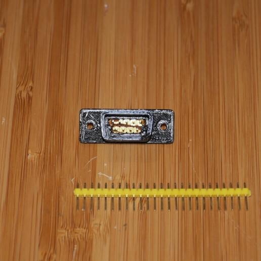"P1080944.JPG Download free SCAD file DB9 male socket (just add 0.1"" header) • 3D printable template, arpruss"