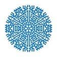 Free STL files Cellular automaton BlocksCAD snowflake generator, arpruss