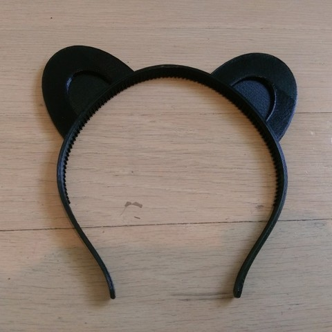 Free 3D printer model Animal ears headband, customizable, arpruss