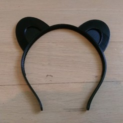 Download free 3D printer files Animal ears headband, customizable, arpruss