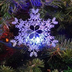 Download free STL Recursive snowflake in BlocksCAD, arpruss