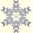 Free 3d printer designs Recursive snowflake in BlocksCAD, arpruss