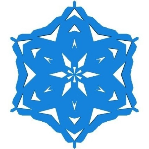Free stl file Random kirigami snowflake in BlocksCAD, arpruss