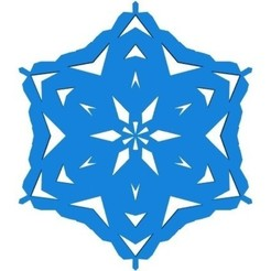 Download free STL files Random kirigami snowflake in BlocksCAD, arpruss