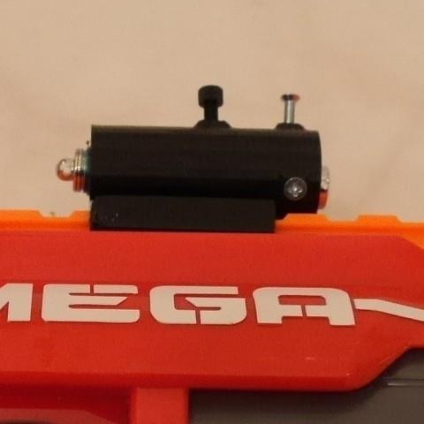 Download free 3D printer model Adjustable Nerf laser sight, arpruss